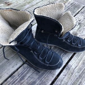 Timberland suede lace up winter boots